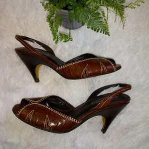 Donald J. Pliner Shoes - SOLD!!! Vintage Donald J. Pliner Peep Toe Heels